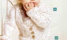 Fırfırlı Örgü Kız Bebek Elbise Modeli