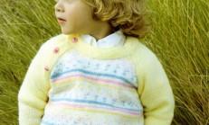 Omuzdan Üç Düğmeli Erkek Çocuk Kazak Modeli