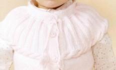 Roba Yakalı Uçuk Pembe Kız Çocuk Hırka Modeli
