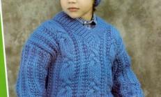 Yalancı Selanik Modelli Erkek Çocuk Kazak ve Şapka Takımı