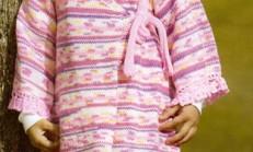 Pembe Renkli Çapraz Modelli Çocuk Elbise Modeli