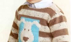 Köpek Desenli Erkek Çocuk Kazak Örneği