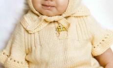 Bej Renkli Bebek Bluz ve Şapka Takımı Modeli