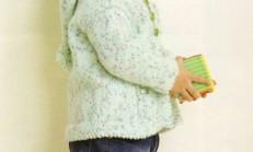 Kapüşonlu Ponponlu Erkek Çocuk Hırka Modeli