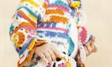 Tığ İşi Lolipop Şeker Kız Çocuk Hırka Modeli