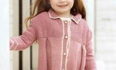Tunik Modelli Kız Çocuk Hırka Örneği