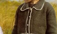Ceket Modelli Erkek Çocuk Hırka Örneği