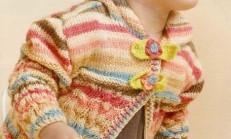 Burgu Modelli Fiyonk Düğmeli Kız Çocuk Hırka Modeli