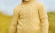 Yarım Boğazlı Burgu Modelli Çocuk Kazak Örneği