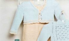 Bej Renkli Örgü Bebek Jile Modeli