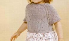 Ajur Modelli Düşük Kol Çocuk Bluz Örneği