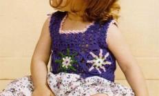 Tığ İşi Kolsuz Çocuk Elbise Modeli