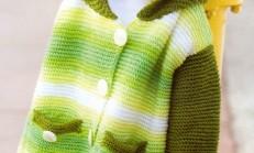 Haraşo Örgü Modelli Kız Çocuk Tunik Hırka Örneği