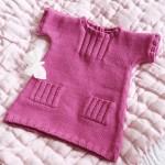 Kopyası cepli spor bebk örgü elbise modelleri
