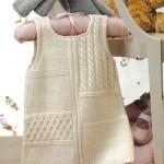 Kren askılı bebek elbise modeli