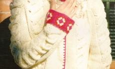 Üzeri İşlemeli Krem rengi Tunik Hırka Modeli