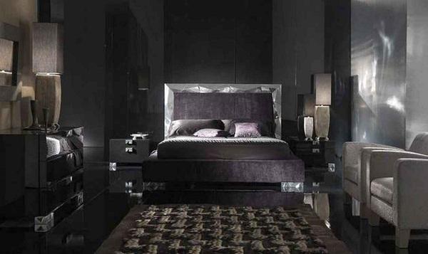 Siyah Yatak Odası Mobilya Trendi