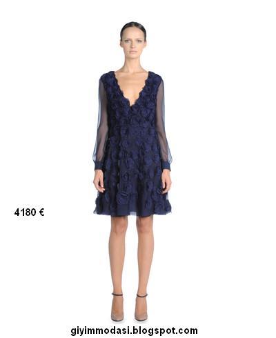 Valentino-2012-kış-koleksiyonu-mavi-elbise