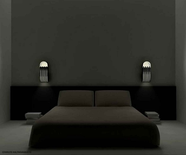 Yatak Odası Modern Aplik Aydınlatma ve Yatak Odası Modeli