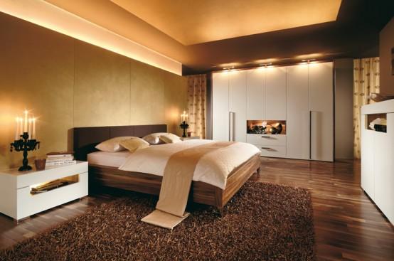 ahsap yatak beyaz dolaplı yatak odası takımı modeli