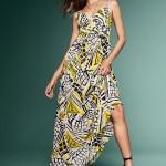 baskılı maksi elbise trendi