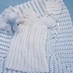 bebek elbise şapka ve battaniyesi