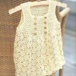 düğmeli askılı bebek elbisesi