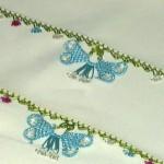 en şık zarif kelebek iğne oyası yazma kenarı modelleri