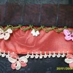 en cici çiçekli motifli yazma kenarı örnekleri