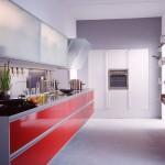 en güzel kırmızı hazır mutfak resimleri
