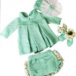 en güzel mükemmel örgü bebek elbiseleri