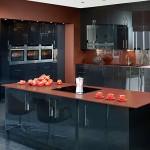 en güzel siyah hazır mutfak modelleri