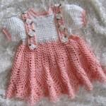 en yeni model güllü örgü bebek elbiseleri