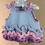 fırfırlı harika bebek örgülü elbiseler