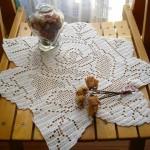 gül şeklinde fiskos masa örtüsü modelleri