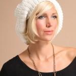 harika beyaz el işi şapka modelleri