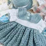 harika kız çocukları için tığ işi elbiseler