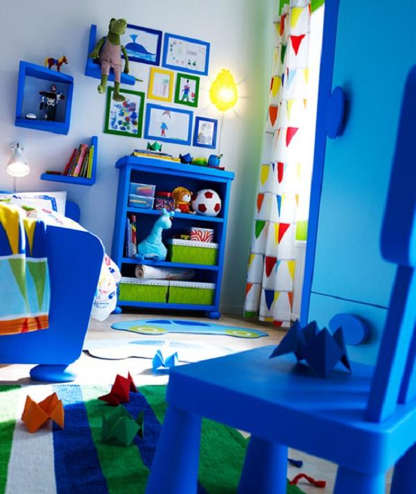 ikea renkli genç odası tasarımları