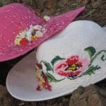 ilginç kanaviçe işli güzel şapkalar