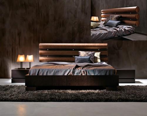 italyan ahşap başlıklı modern yatak odası tasarımı