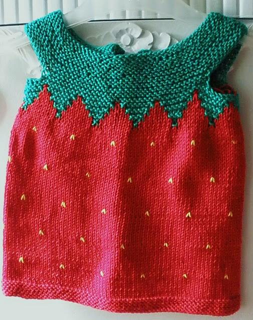 kırmızı yeşil şirin kız bebek süveteri örneği