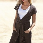 kısa kollu cepli en moda bayan hırkaları