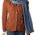 kahverengi örgü ceket modeli örneği