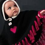kalpli çocuk örgü panço modelleri