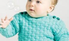 El İşi Şirin Örgü Bebek Elbise Modelleri