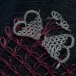 kelebek motifli iğne oyalı havlu kenarı motifleri