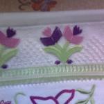 kelebekli iğne oyası havlu kenarı modelleri
