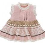 kloş kolsuz bebek elbisesi