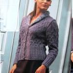 koyu gri düğmeli örgü ceket modeli örneği