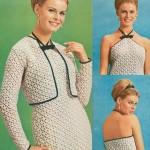 krem rengi dantelli boğazdan bağlamalı elbise modeli örneği